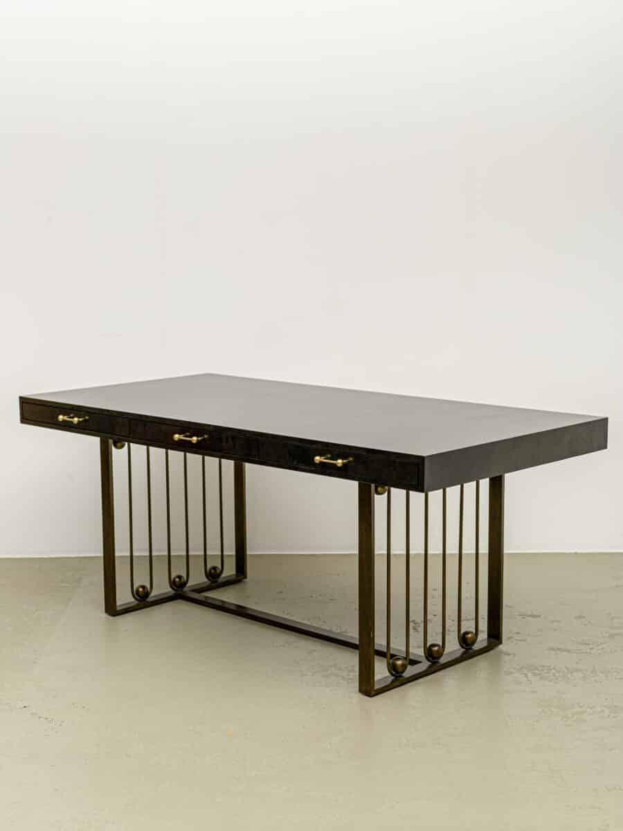 Black julian chichester desk with details